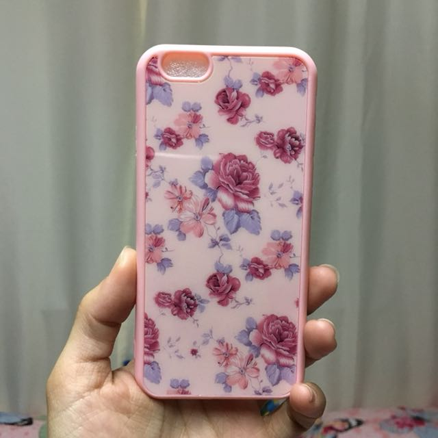 Floral Acrylic Case for iPhone 6/6s