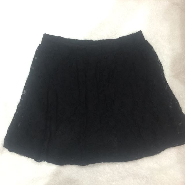 Forever21 Black Lace Skirt