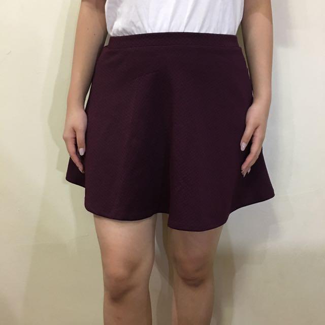 Forever21 Burgundy Skirt