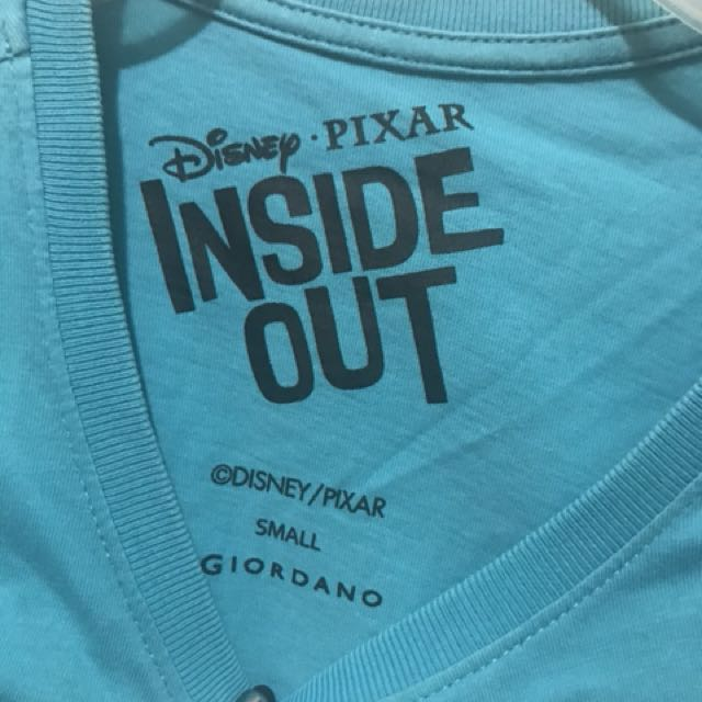 Giordano Inside Out blue green top
