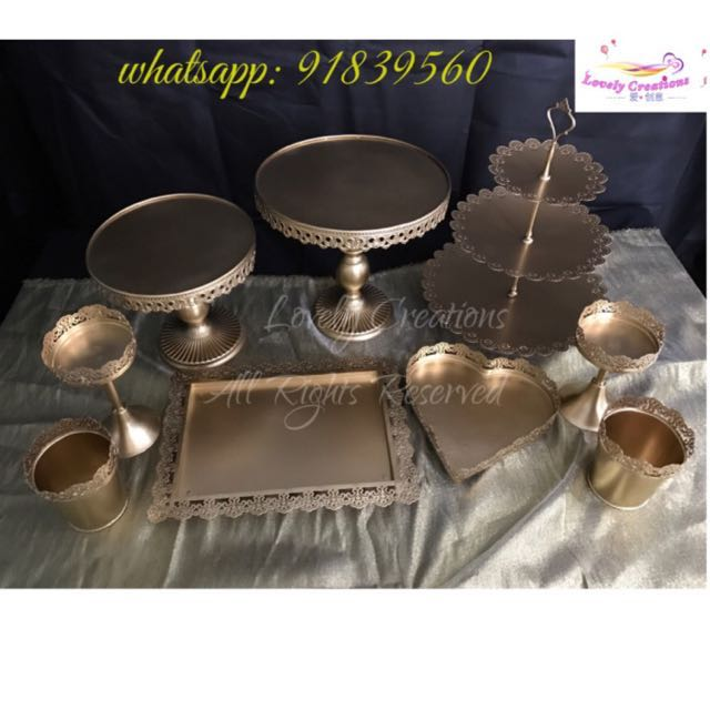 Gold Cake Stand Dessert Tray Cupcake Stand For Sale Rent Home