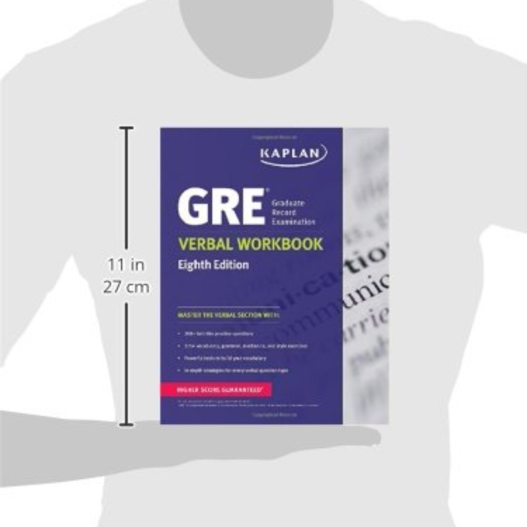 Workbooks kaplan gre verbal workbook : GRE Verbal Workbook, Textbooks on Carousell
