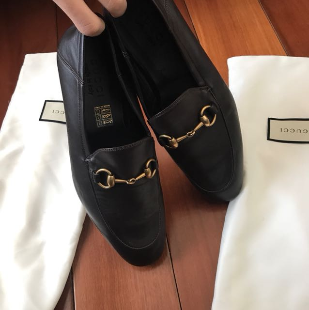 2f6fc09ea Gucci loafers /Brixton leather Horsebit loafer, Women's Fashion, Shoes on  Carousell