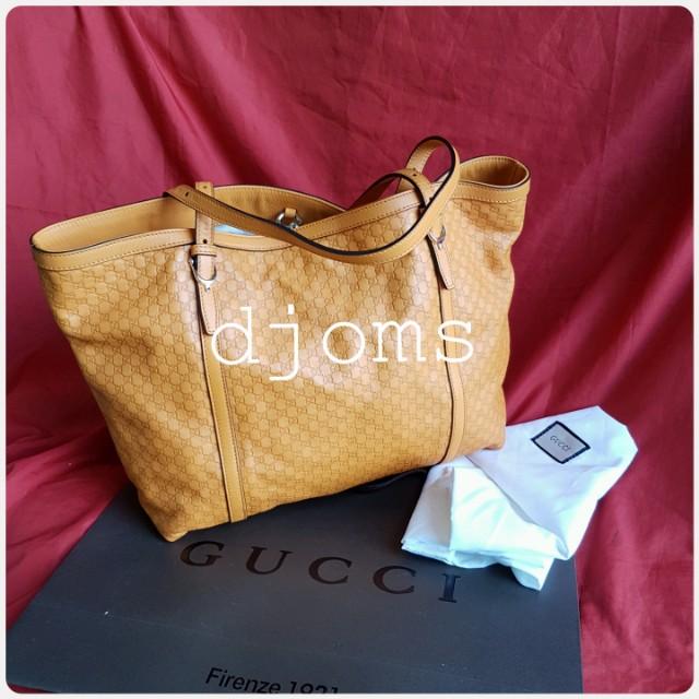 Gucci micro Guccissima Nice tote yellow orange bag