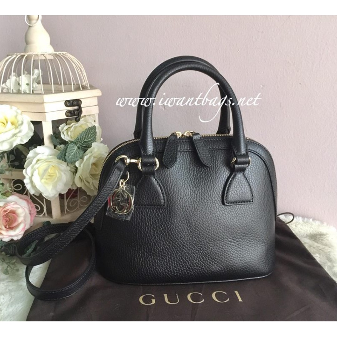 c53c5b5b Gucci Small Dome Leather Crossbody Bag-BlackSmall Dome Leather Crossbody  Bag-Black