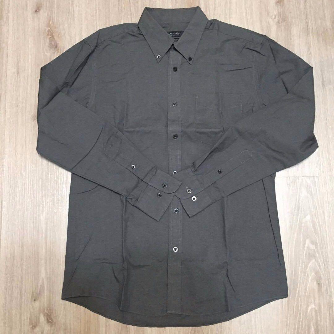 [HANG TEN]男生 長袖襯衫 深灰色 M 便宜賣