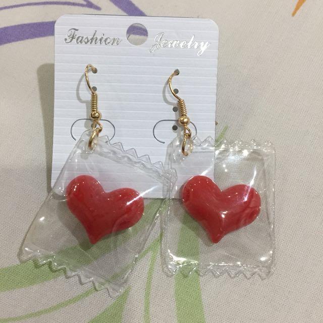 Heart Candy Earrings/Anting