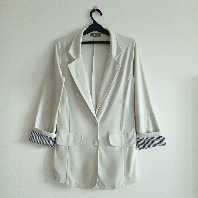 HIGH END BLAZER CREAM FORMAL AND CASUAL STYLE BY PINKEMMA