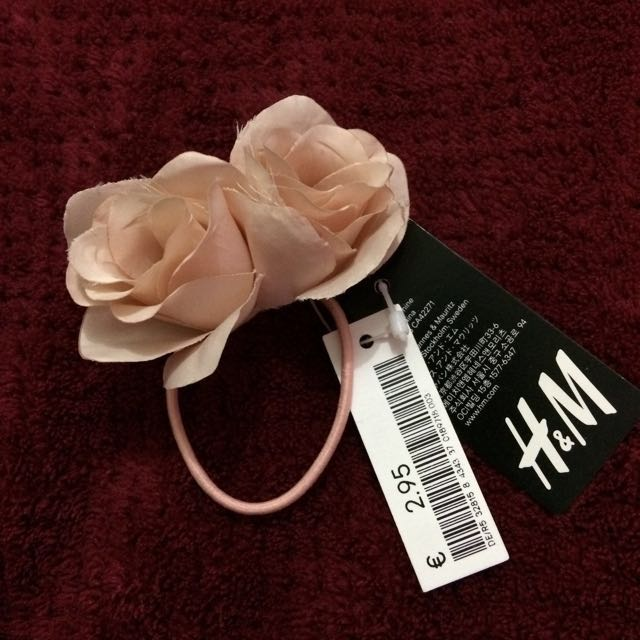 H&M Beige Rose Hair Tie
