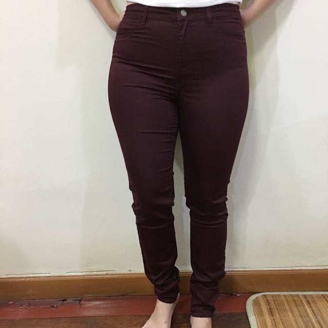 H&M Maroon Jeans
