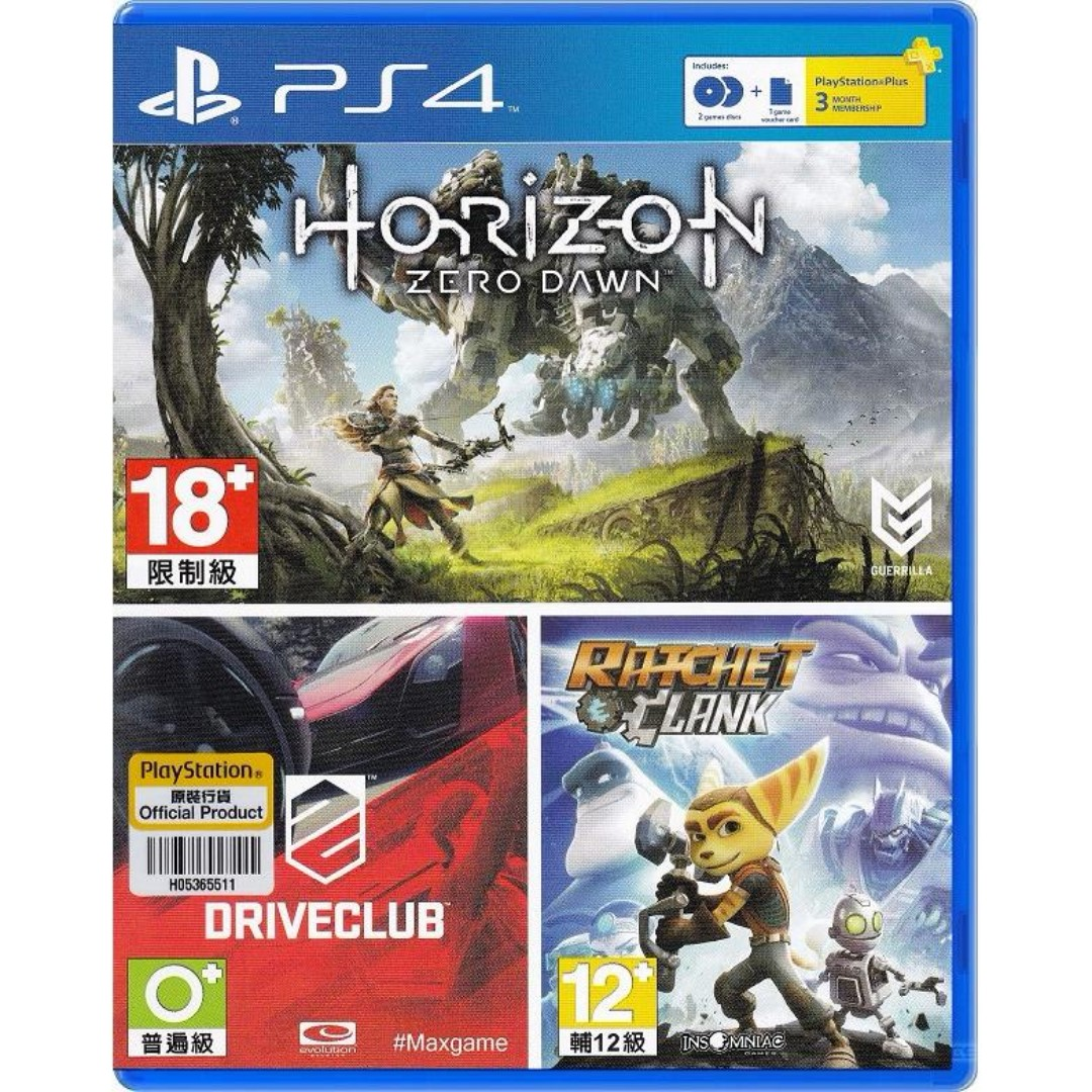 Horizon Zero Dawn Driveclub Ratchet And Clank Bundle Ps4 Toys Sony Playstation 4 Reg 3 Games Video Gaming On Carousell