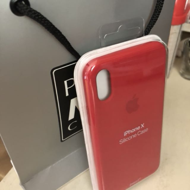 buy online 5ea3c 9ce3f iPhone X apple silicone case (Product) Red on Carousell