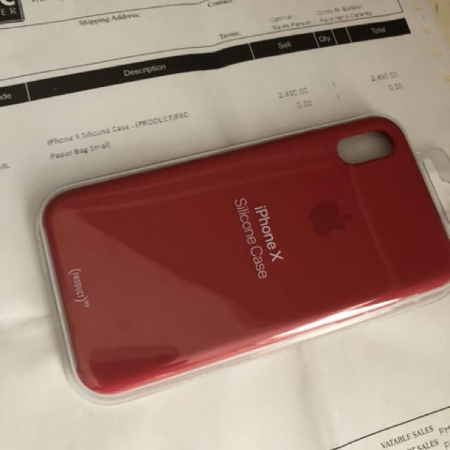011e50d72d471 iPhone X apple silicone case (Product) Red