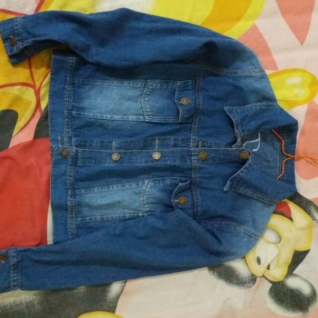 JAKET JEANS BORDIR HAPPY TIMES