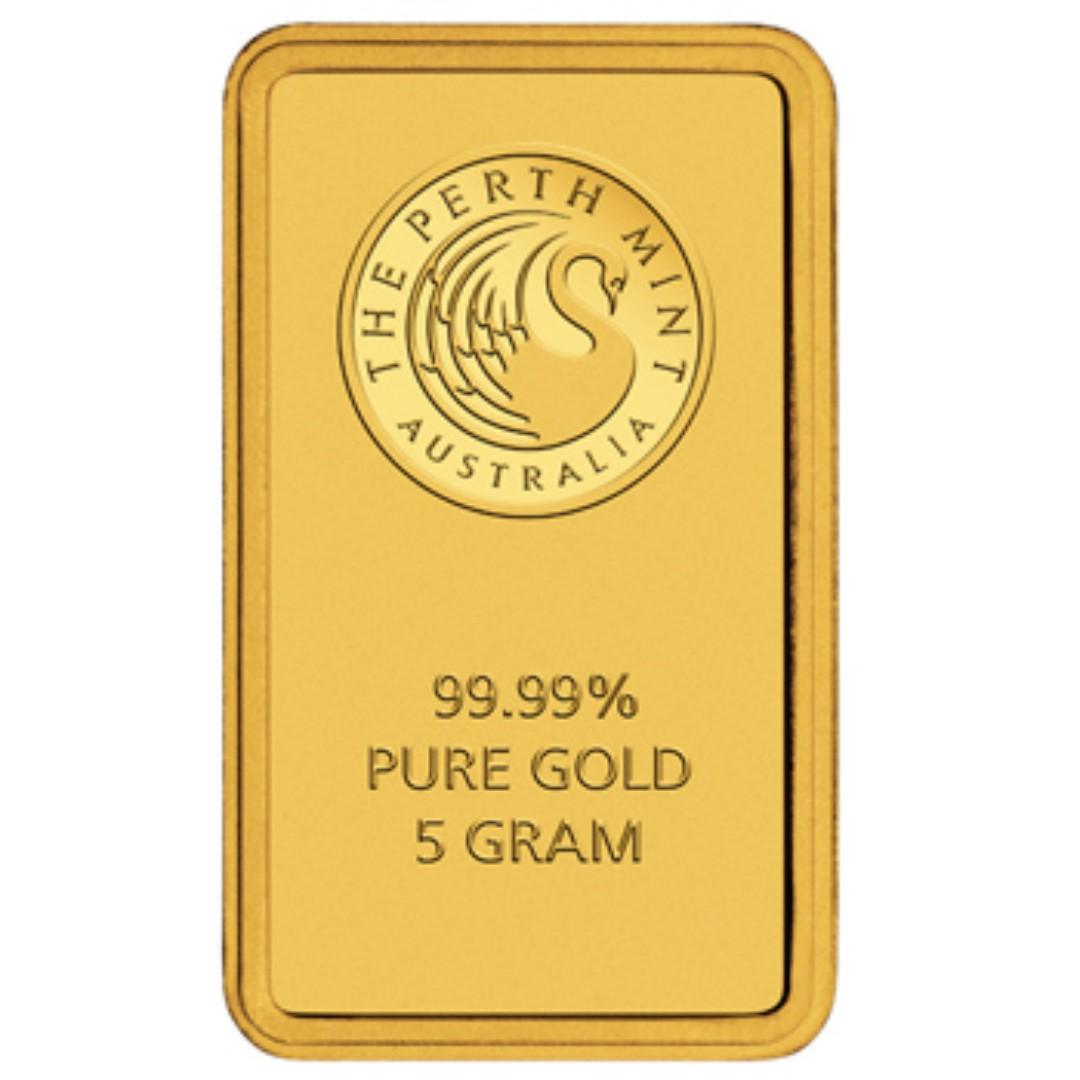 Kangaroo 5g Minted Gold Bar