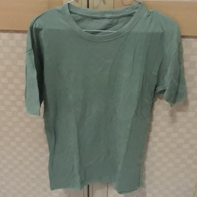 Kaos polos hijau