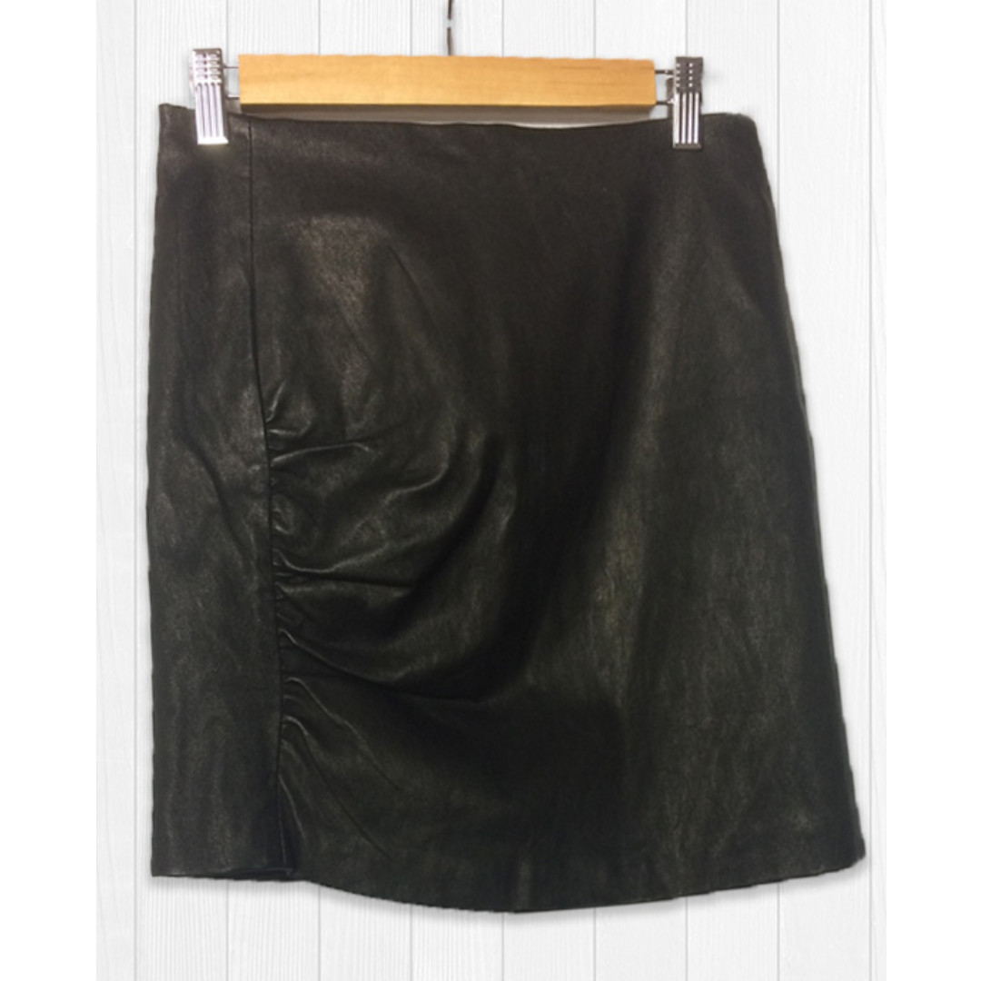 Kookai Leather Mini Skirt