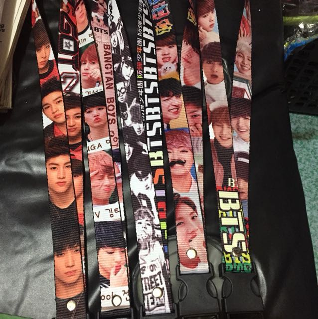 Kpop lanyards sale ID lace BTS