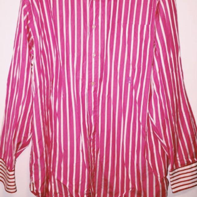 Long button up oversized Tommy Hilfiger dress shirt