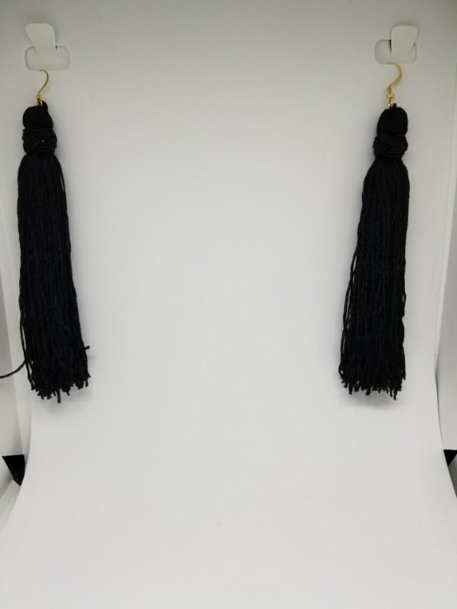 Long elegant tassel earrings