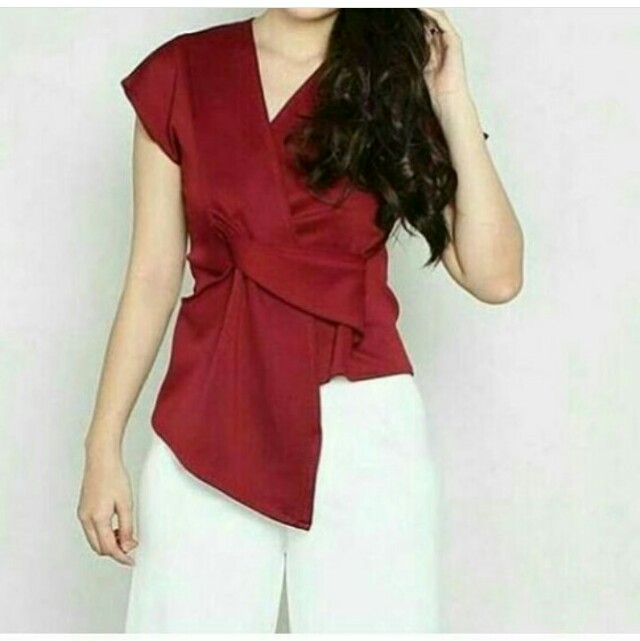 Maroon Knot Blouse (new)