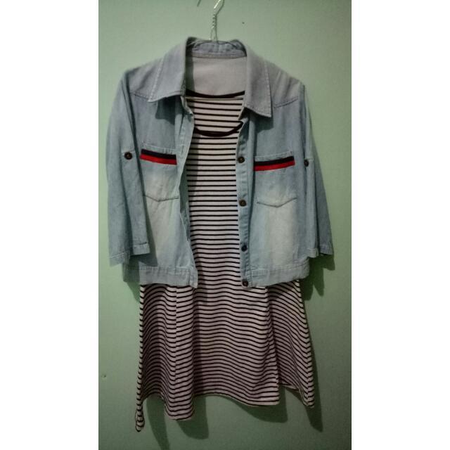 mini dress stripe