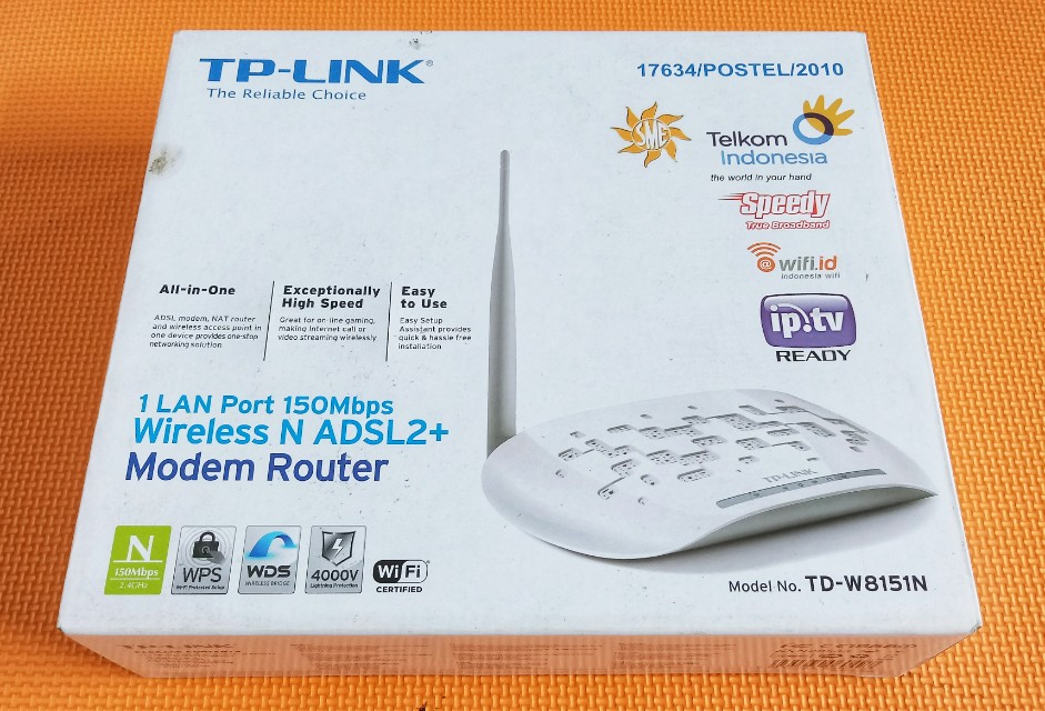 TP-LINK Modem Router Wireless N ADSL2+
