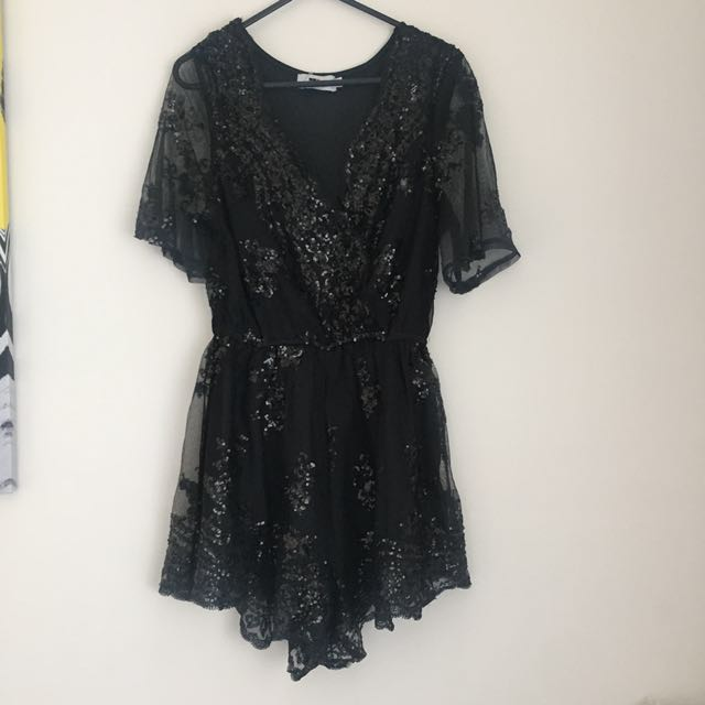 New Black playsuit with sequins