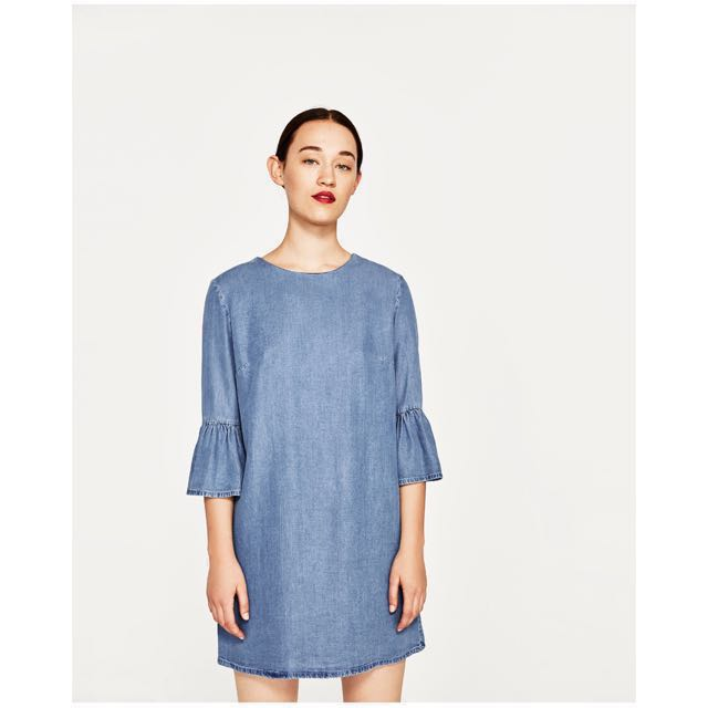 [NEW] Zara Frilled Sleeve Dress