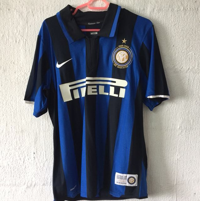 sports shoes 082e9 68cf8 Nike Inter Milan 100 Anniversary Jersey