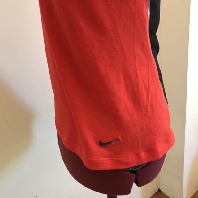 Nike Red Mesh Tee Women's