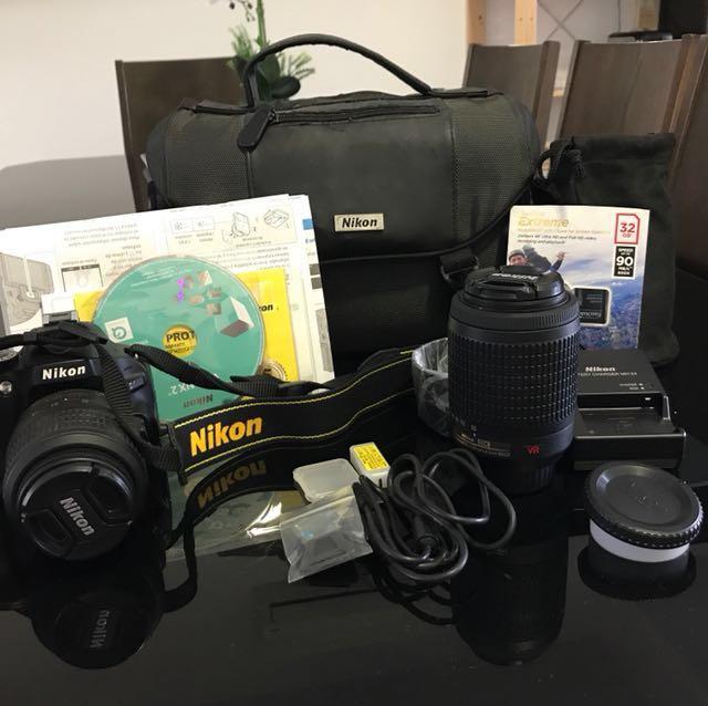 Nikon D5100 AF-S DX 18-55mm + AF-S DX VR 55-200mm Lense