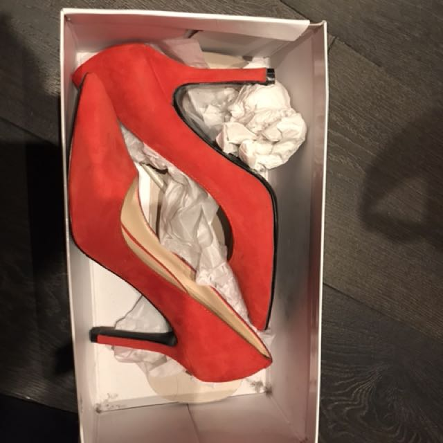 Nine West red high heel