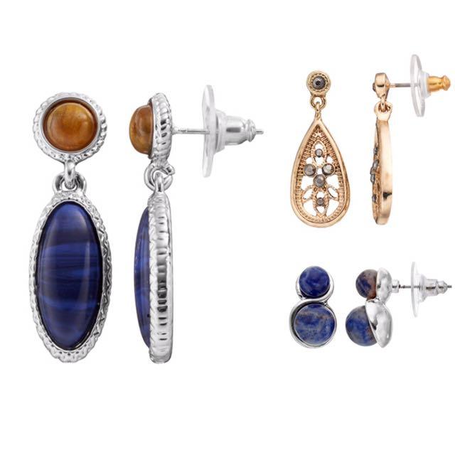 NWT Women's Chaps Earring set