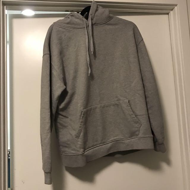 Oak + Fort Light Grey Oversized Hoodie