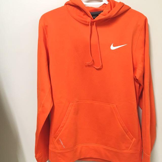 Orange Nike Thermafit Hoodie