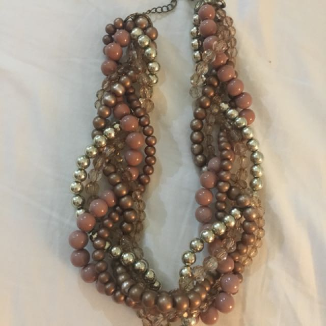 Pearl Brown Gold Necklace