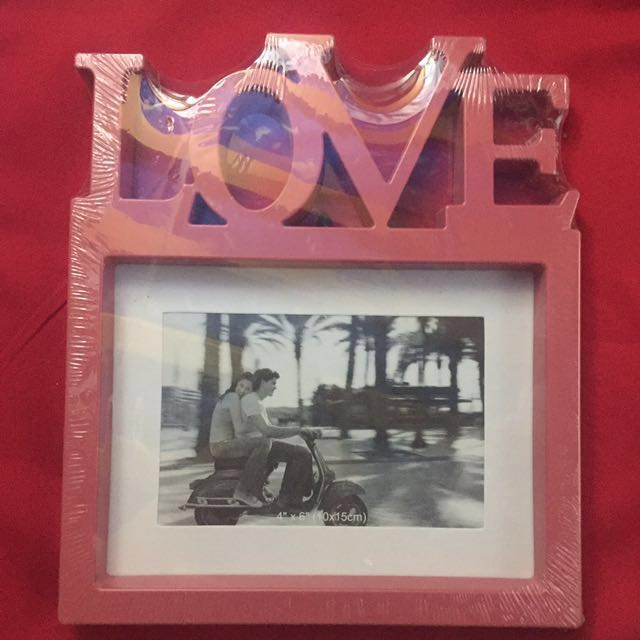 Pink Picture Frame with LOVE Letters