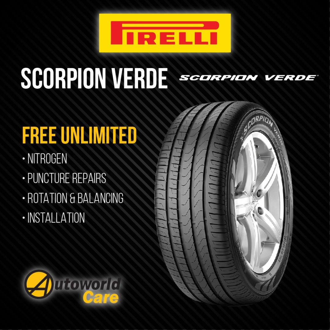 pirelli scorpion verde tyres car accessories on carousell. Black Bedroom Furniture Sets. Home Design Ideas
