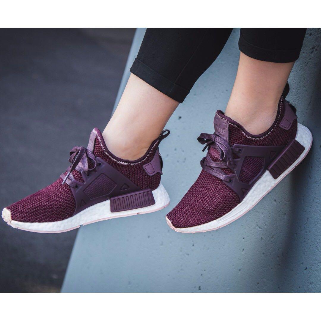 9650e92994d8 PO) Adidas Womens NMD XR1 Maroon Pink