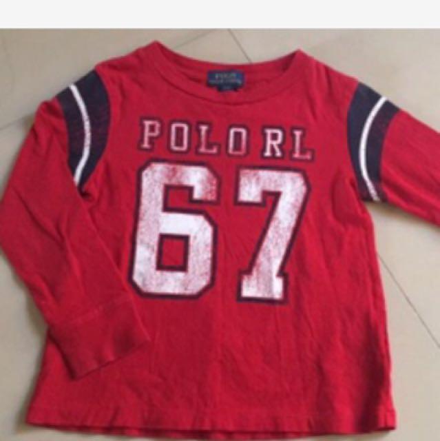 正品Polo RL 紅色上衣