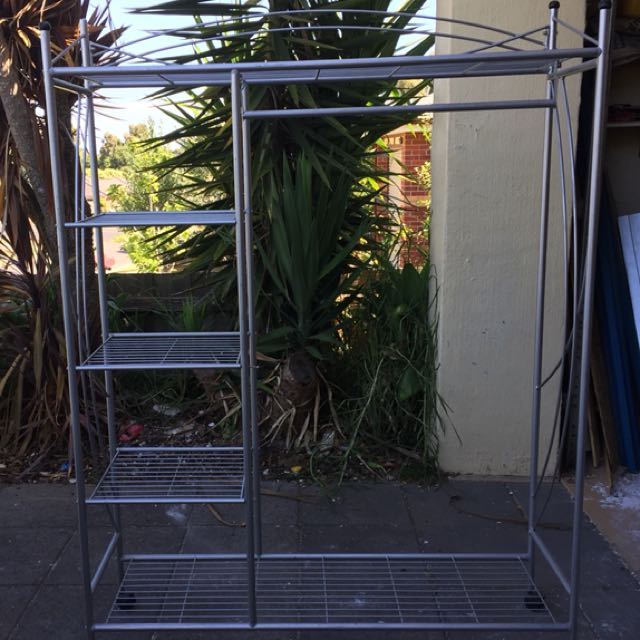 Portable wardrobe and shelf