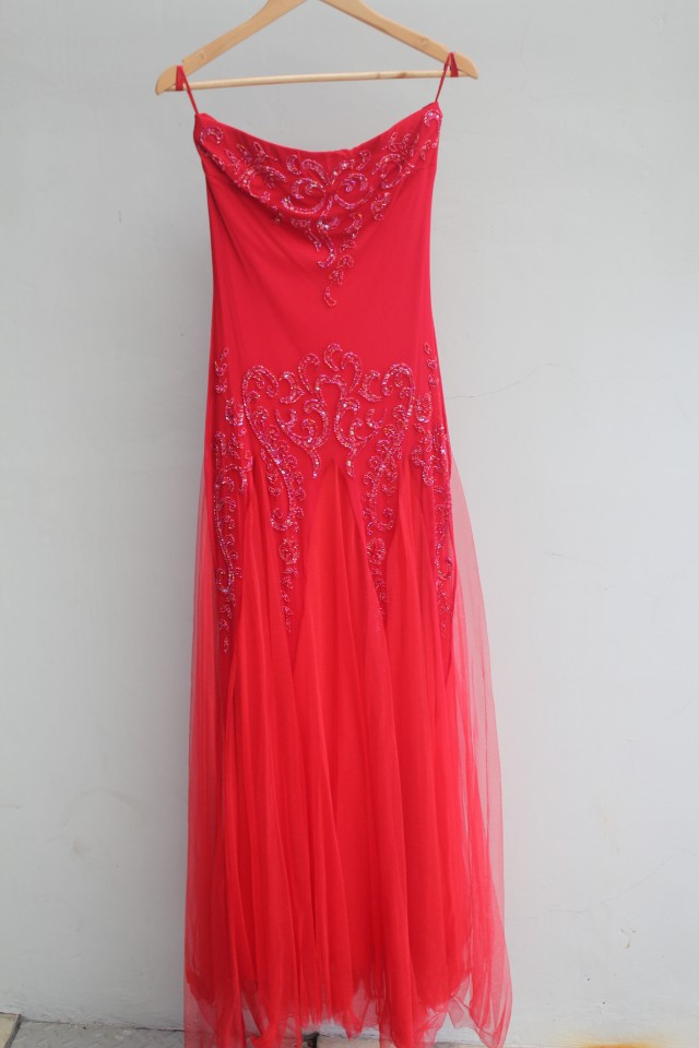 Preloved long dress merk Image