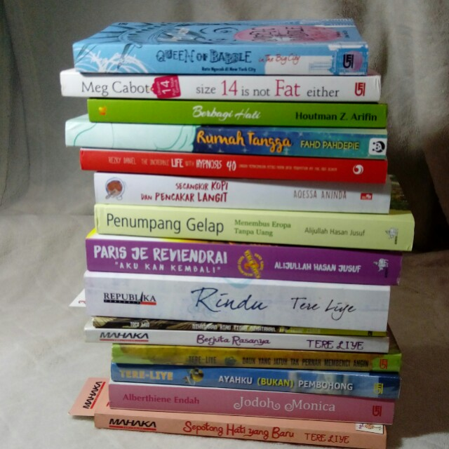 Preloved novel, novel terjemahan, buku motivasi