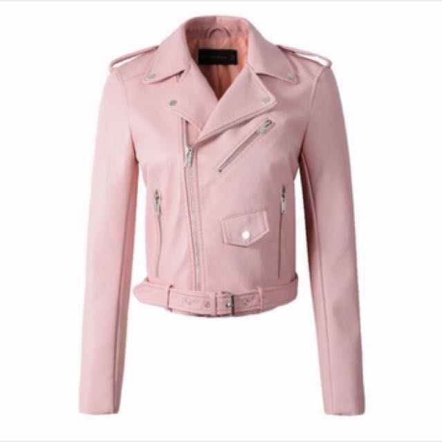 [READY STOCK] Pink Leather Jacket