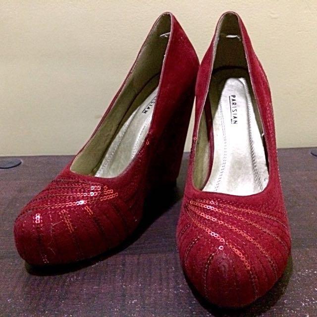 Red Heels (Wedge Type)