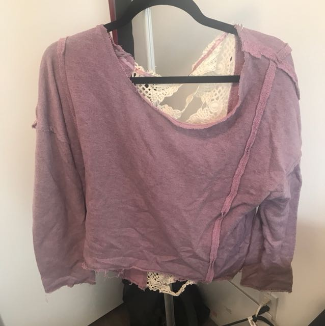 REDUCED Free People Cut out back Sweater/Top - Size M