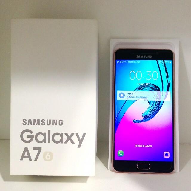 極新Samsung Galaxy A7(2016)4G 5.5吋粉色九成新