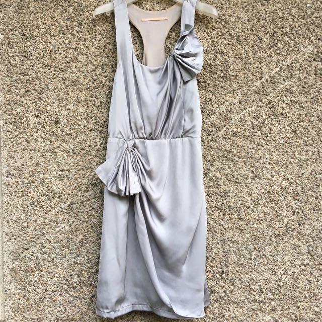 Satin Gray Dress