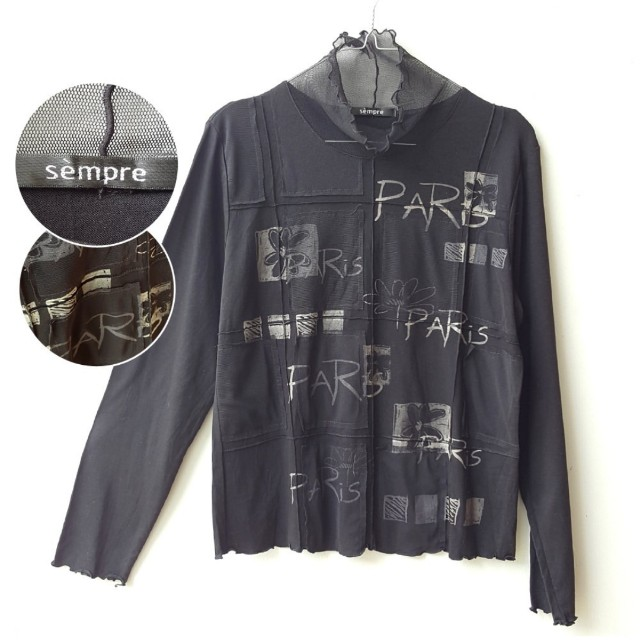 "Sempre ""Paris"" Black shirt"